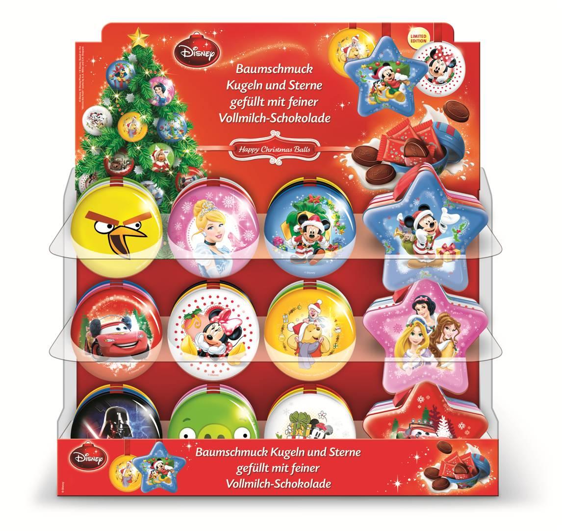 Disney weihnachtsbaum kugeln und sterne mit schokolade for Disney weihnachtskugeln