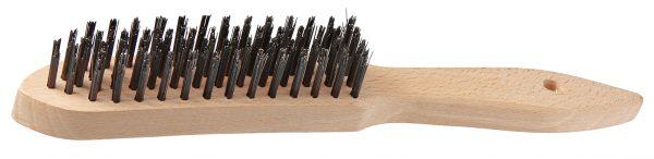 Drahtbürste 28 cm Holzgriff