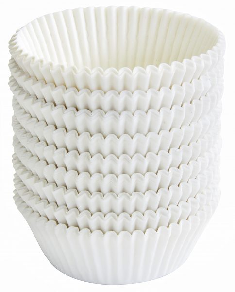 Papierbackförmchen weiß 50mm