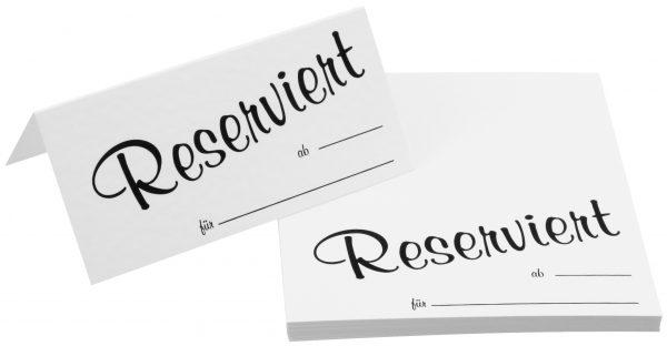 """Einschubkarten """"reserviert"""""""