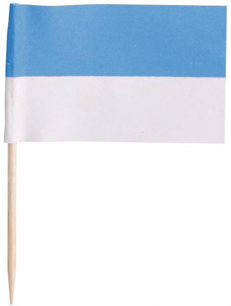 Preisfähnchen 7cm weiß-blau