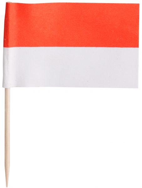 Preisfähnchen 7cm rot-weiß
